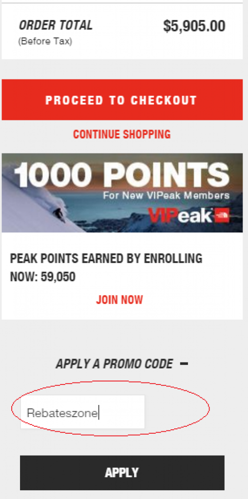 the north face promo code
